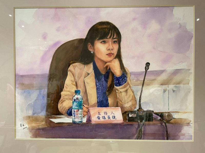 台南郭綜合醫院總裁郭宗正醫師的畫作。(黃捷臉書)