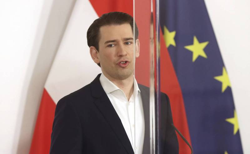 奧地利總理庫爾茨宣稱,某些歐盟國家為繞過歐盟的疫苗分配規則,私下與製藥公司達成疫苗合約。(美聯社資料照)