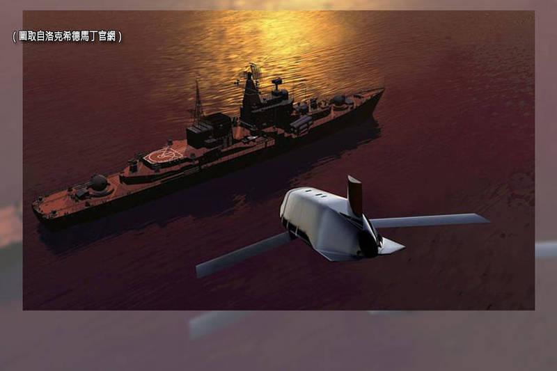上月美國海軍與空軍簽下一份約新台幣116.6億元合約,向洛克希德馬丁採購137枚LRASM飛彈,圖為洛馬LRASM飛彈概念圖。(圖取自洛克希德馬丁官網;本報合成)