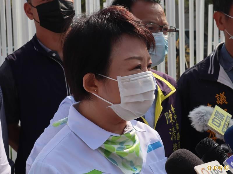 針對核四問題,台中市長盧秀燕並未回應。(記者歐素美攝)