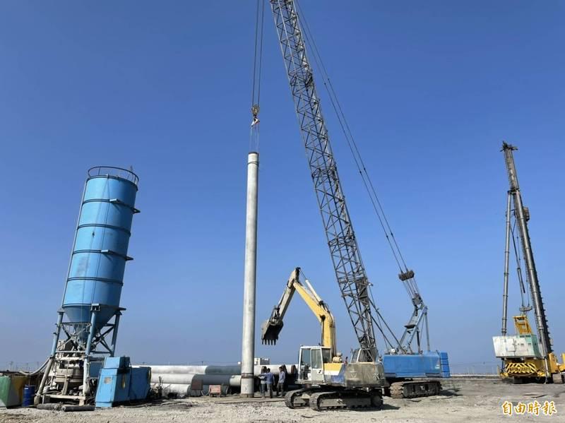 達德能源風機工地在自救會抗爭後,已正式停工。(記者詹士弘攝)