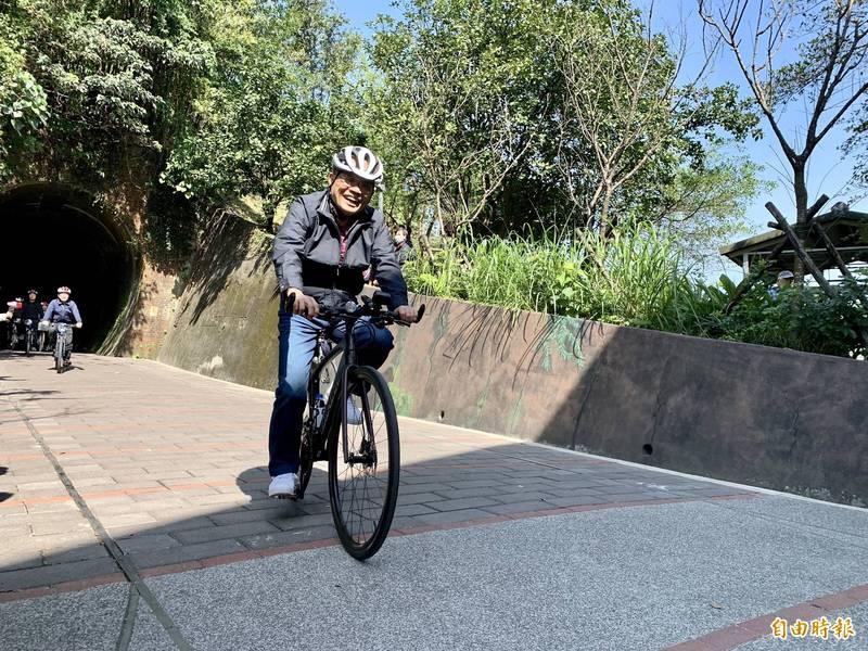 行政院長蘇貞昌2月宣布,中央將補助基隆市1.8億元,進行基隆河岸自行車串聯計畫,最晚明年6月完成。(資料照,記者林欣漢攝)