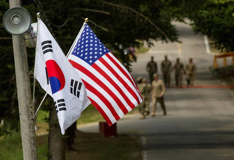 南韓統一部稍早回應金與正發言指,南韓不會一直預測北韓擬祭出的特別措施,並強調本次美韓聯演將為南北韓和平進程提供支援。(路透資料照)