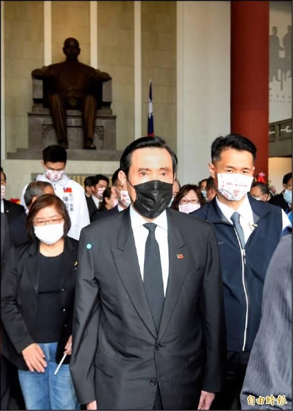 針對中國人大會議決定修正香港自治區選舉制度,前總統馬英九日前出席孫中山逝世96週年紀念活動時受訪表示,這等於是宣告「一國兩制」的死亡,他感到非常遺憾。(資料照)