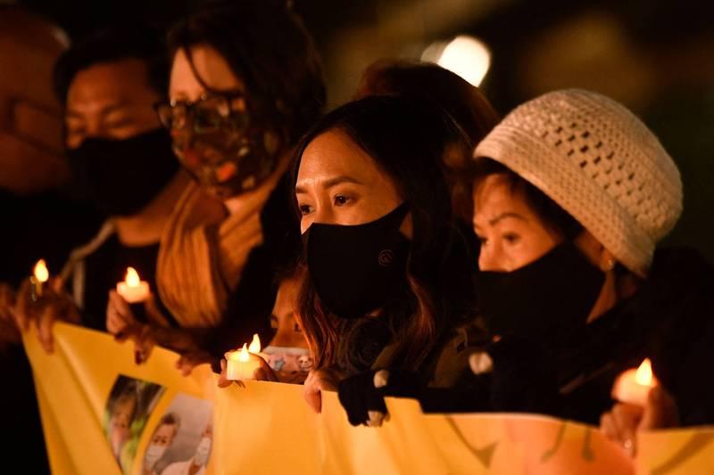 亞裔團體呼籲美國人,不要仇恨亞洲人。(法新社)