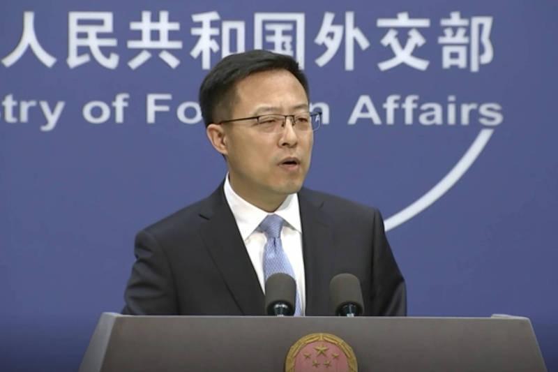 中國外交部發言人趙立堅氣到結巴。(美聯社資料照)
