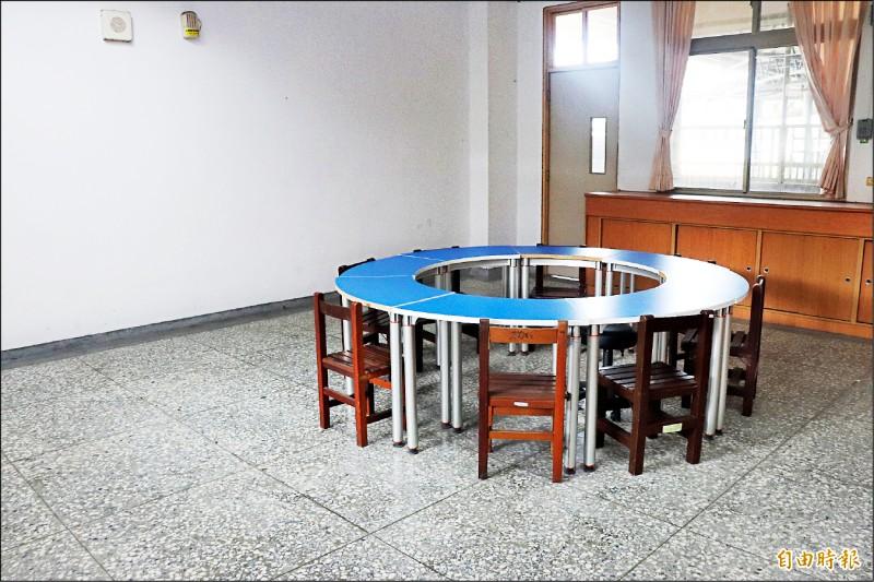 女學生被關的教室。(記者林敬倫攝)