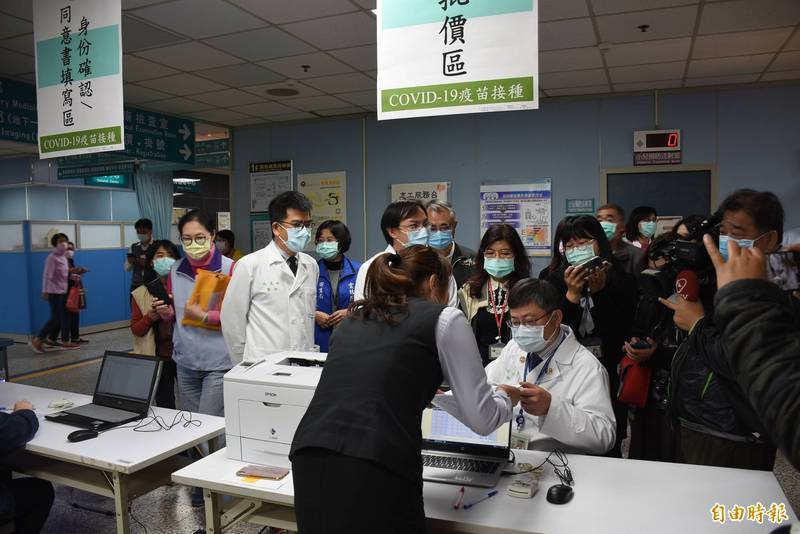 台大雲林分院已規劃完善疫苗接種流程。(記者林國賢攝)
