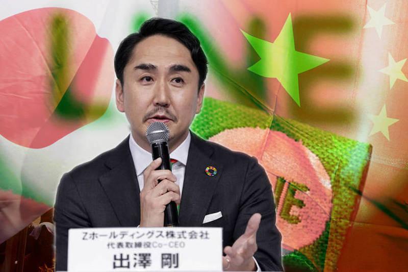 LINE公司社長出澤剛(見圖)今日召開記者會對日本用戶道歉,並承諾將會把個資移回日本境內。(彭博、路透、歐新社資料照;本報合成)