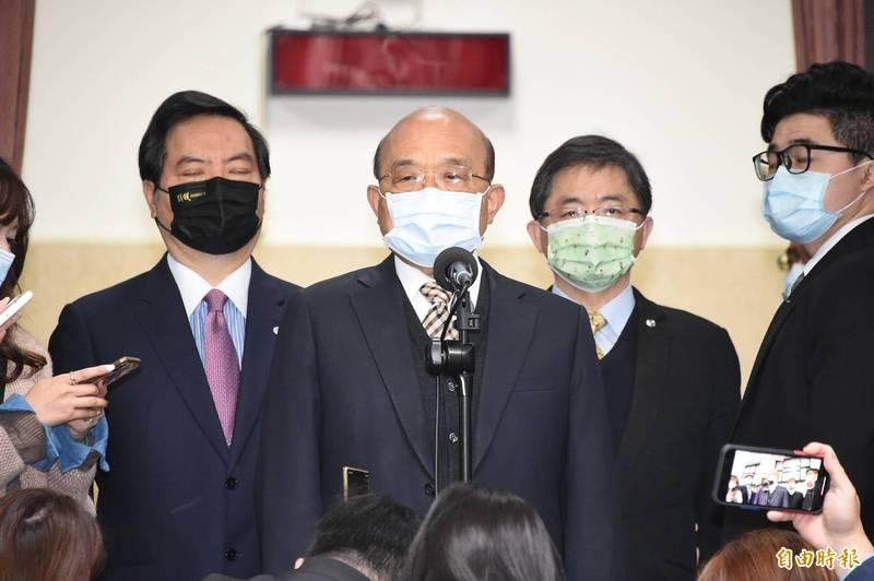 行政院長蘇貞昌今23日立院被堵訪。(記者塗建榮攝)