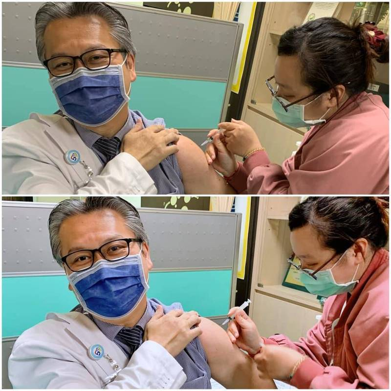 奇美醫院加護醫學部醫師陳志金在打完AZ疫苗後,透過臉書粉專分享施打後的感覺,強調自己「沒有什麼不適、精神也很好」。