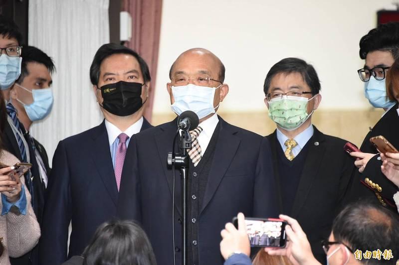 行政院長蘇貞昌23日赴立法備詢。(記者塗建榮攝)