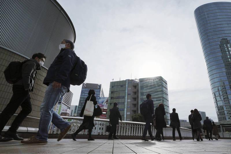 東京今(24)日新增420人確診武漢肺炎,為本月單日新增案例最高紀錄,也為本月第二次出現單日超過400人確診。(美聯社)