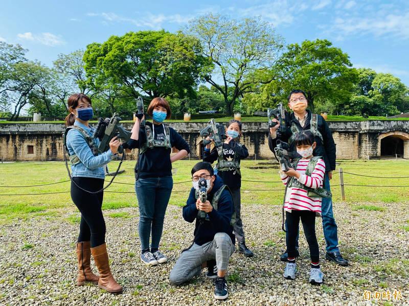 淡水古蹟博物館4月4日將在滬尾礮臺舉辦「家族大戰-古蹟親子鐳戰賽」。(記者周湘芸攝)