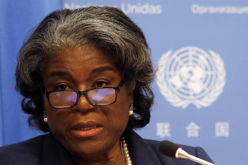 美國駐聯合國大使湯瑪斯-葛林斐德(見圖)在聯合國安全理事會上表示,拜登政府將會與巴勒斯坦重新建交,並且金援巴勒斯坦。(資料照,路透)