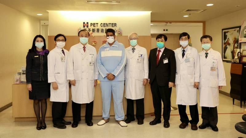 帛琉總統惠恕仁到新光醫院接受私人健檢行程。(新光醫院提供)