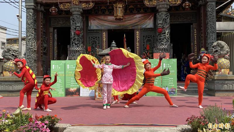 赤山表演藝術坊將參與二報半在地生活節的藝陣匯演。(記者楊金城攝)