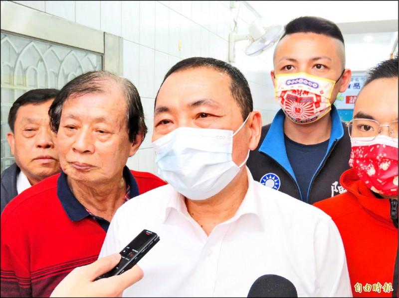 雙北論壇今在五股垃圾山舉行,主辦方、新北市長侯友宜表示,將與台北市長柯文哲討論雙北生活圈的共同議題。(記者陳心瑜攝)