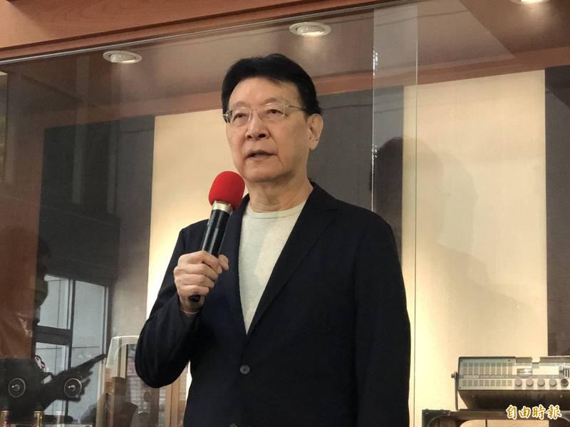 趙少康在中廣一樓受訪表示,如果韓國瑜出來,基於道義當然要挺,但自己還在思考,國民黨還沒說一定不給他選。(記者陳昀攝)