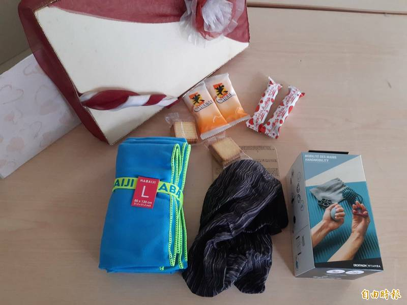 聯電子天捐贈210份希望之盒的兒童節禮物給心智障礙慢飛兒寶貝,提前祝福兒童節快樂。(記者洪美秀攝)