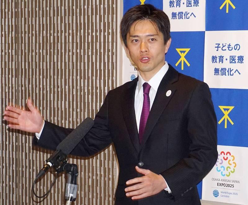大阪府知事吉村洋文(見圖)29日受訪表示,當地可能已經進入第4波疫情,正申請將大阪列入防疫重點地區。(法新社)