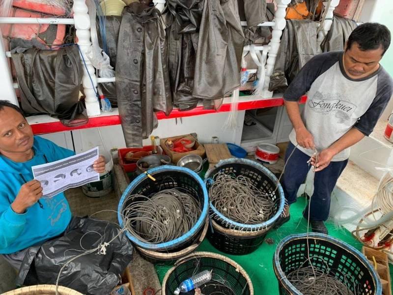 受疫情影響外籍勞工可轉換職務,澎湖漁船面臨缺工窘境。(澎湖縣政府社會處提供)