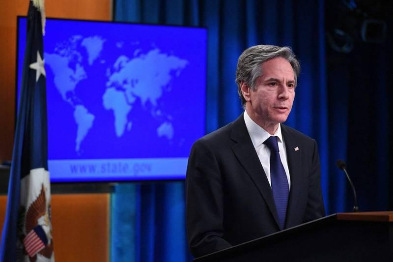 美國國務院公布年度人權報告,布林肯指出,報告中顯示人權趨勢繼續向錯誤方向發展。(法新社)