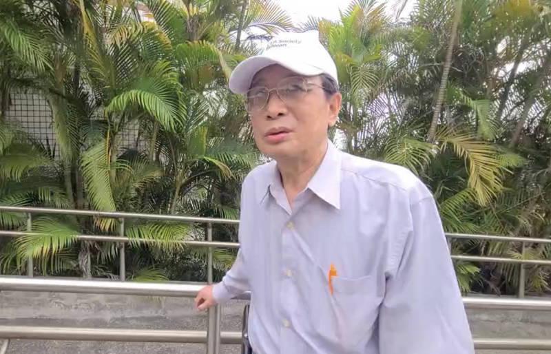 莊先生到台北榮民總醫院蘇澳分院找姪子。(記者蔡昀容翻攝)