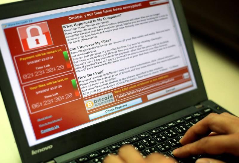 美國第6大學區的電腦系統遭勒索軟體入侵,目前傳出在討價還價後學區以50萬美元(約新台幣1427萬元)脫困。勒索病毒示意圖。(歐新社)