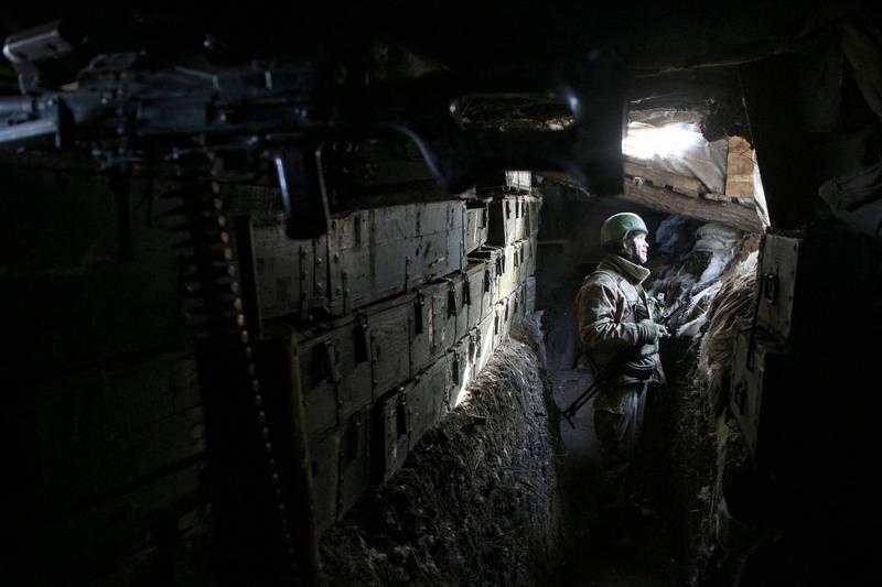 俄羅斯、烏克蘭情勢緊張,圖為烏克蘭軍人。(法新社)