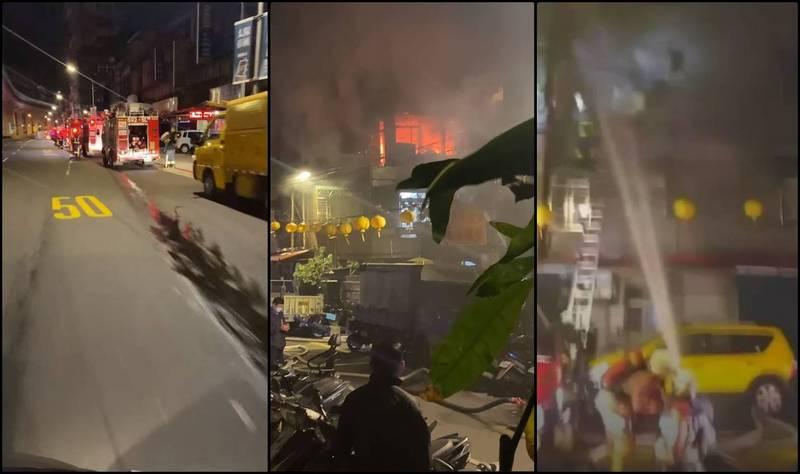 位於新北市中和區景平路的一處民宅今晨驚傳火警,現場一度火勢猛烈,據傳目前火勢已撲滅,並有患者被送醫治療。(圖擷自臉書,本報合成)