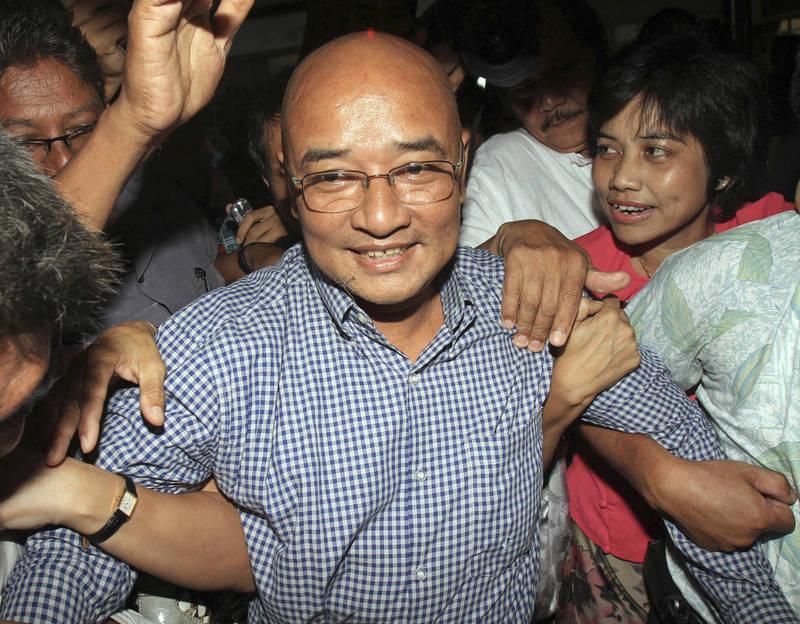 緬甸知名喜劇演員札哈納今天早上在家中遭軍警逮捕。(資料照,美聯社)