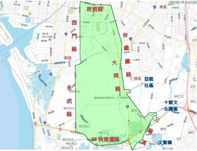 台南市東、南、中西與仁德等4區部分地區從4月13日9時起停水44小時、影響2萬3203戶。(圖:自來水公司六區處提供)