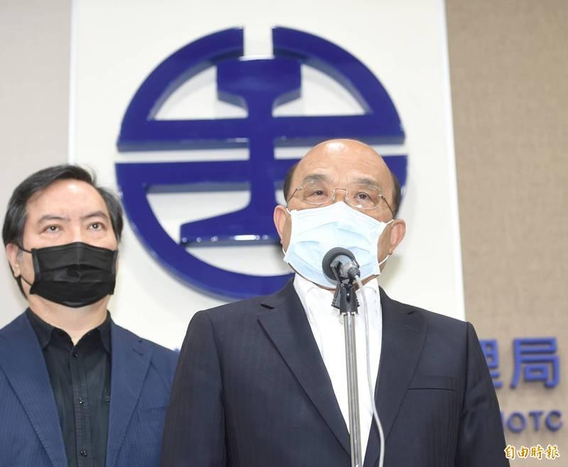 針對台鐵事故,行政院長蘇貞昌(右)將3階段加速改革台鐵。(資料照)