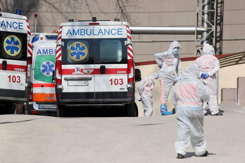 烏克蘭今天通報新增染疫死亡和住院人數雙創新高,情勢危急。(路透)