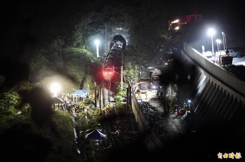 台鐵太魯閣408次列車2日發生出軌事故,造成嚴重傷亡。(資料照)