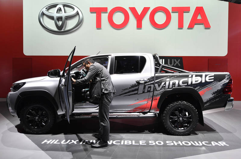 日本豐田(Toyota)的「Hilux」皮卡車。(美聯社)