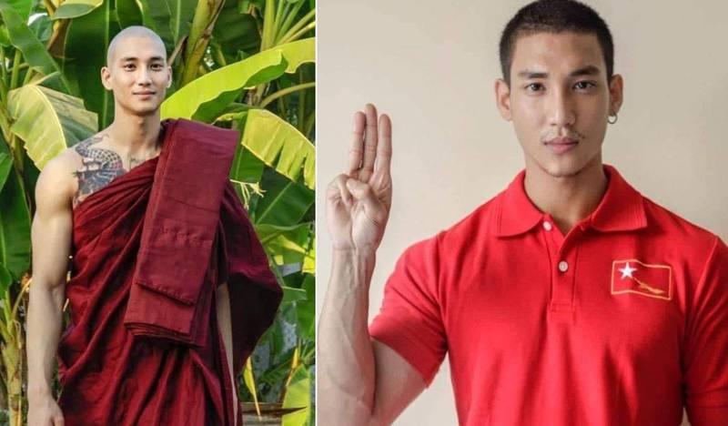 緬甸男模Paing Takhon曾多次站出來聲援緬甸人民。(翻攝自臉書)