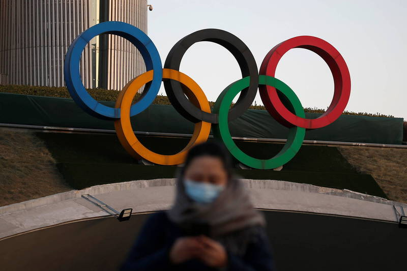 美國政府6日首度透露可能為了新疆維吾爾人權問題,聯合杯葛2022年北京冬季奧運的想法。(路透資料照)