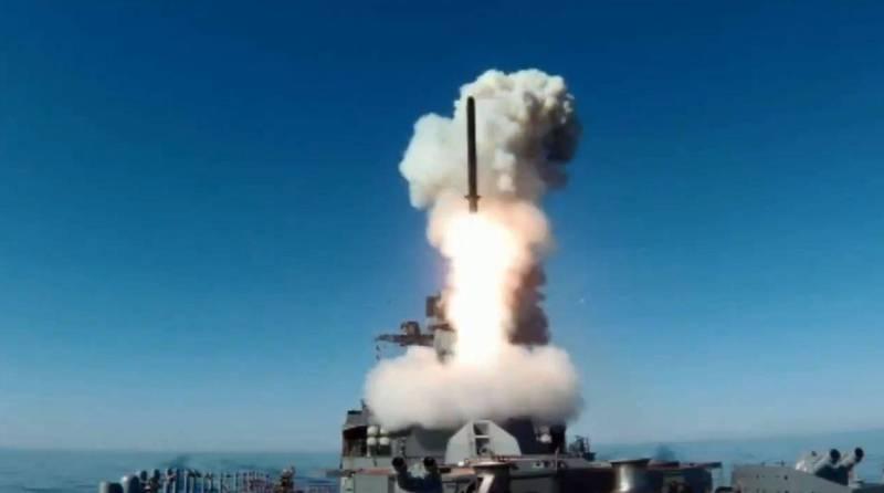 俄羅斯海軍太平洋艦隊的沙波什尼科夫元帥號,於本月6日在日本海水域試射飛彈,成功命中1000公里外的陸上目標。(圖翻攝自俄羅斯聯邦國防部官方推特)