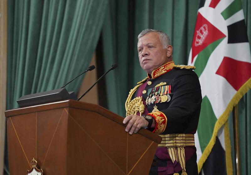 約旦國王阿卜杜拉二世(King Abdullah II)。(美聯社)