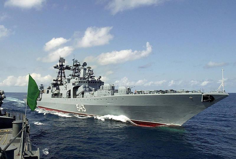 沙波什尼科夫元帥號是一艘「無畏級」反潛驅逐艦,於1985年開始服役於俄羅斯海軍太平洋艦隊。(法新社)