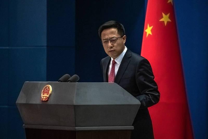 中國外交部發言人趙立堅(見圖)控訴美方在台灣問題上搞恐嚇和脅迫。(歐新社檔案照)