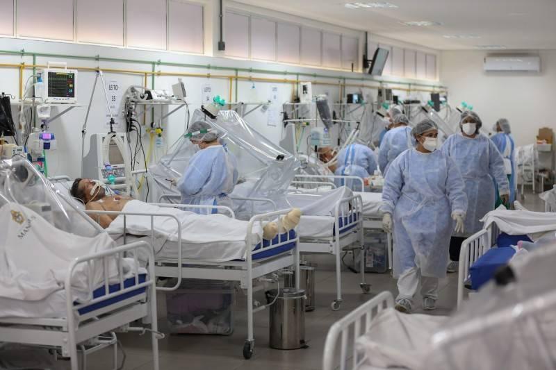 武漢肺炎(新型冠狀病毒病,COVID-19)疫情肆虐,印度過去一天單日新增確診逾11萬例創新高,巴西也再增逾9萬例,阿根廷新增逾2萬例,且是連續第2天染疫病例創新高。圖為示意圖。(法新社)