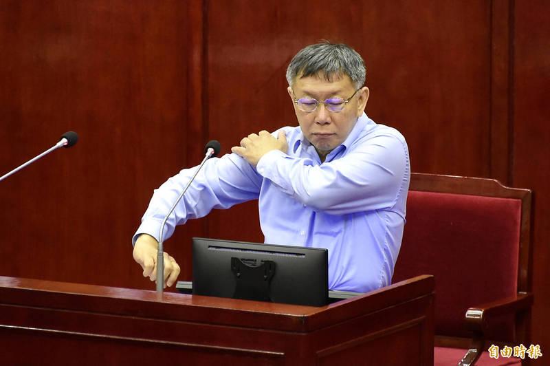 台北市長柯文哲排定下週一(12日)上午赴聯醫和平院區施打AZ疫苗。(記者塗建榮攝)