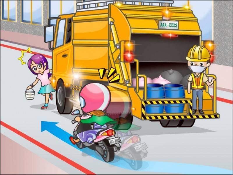 交通部公路總局昨宣布,自5月3日起,持有汽車駕照者要報考機車駕照也須參加筆試;圖為機車筆試情境式考題。(公路總局提供)
