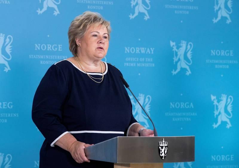 挪威總理瑟爾貝克。(路透檔案照)