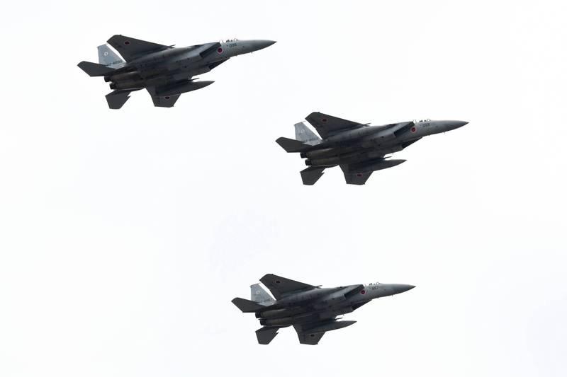日本航空自衛隊10證實,日美2國8日在東海舉行「聯合防空戰鬥訓練」。(法新社檔案照)