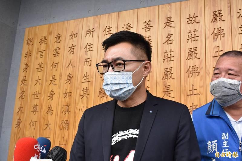 針對藍營質疑衛福部帳戶,國民黨主席江啟臣說,尊重大家,但受理捐款單位要公開用途。(記者張瑞楨攝)