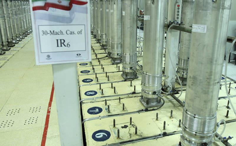 伊朗的IR-6先進鈾濃縮離心機。(美聯社資料照)